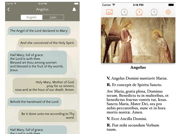 Mobile phone apps for the Angelus - Hail Mary