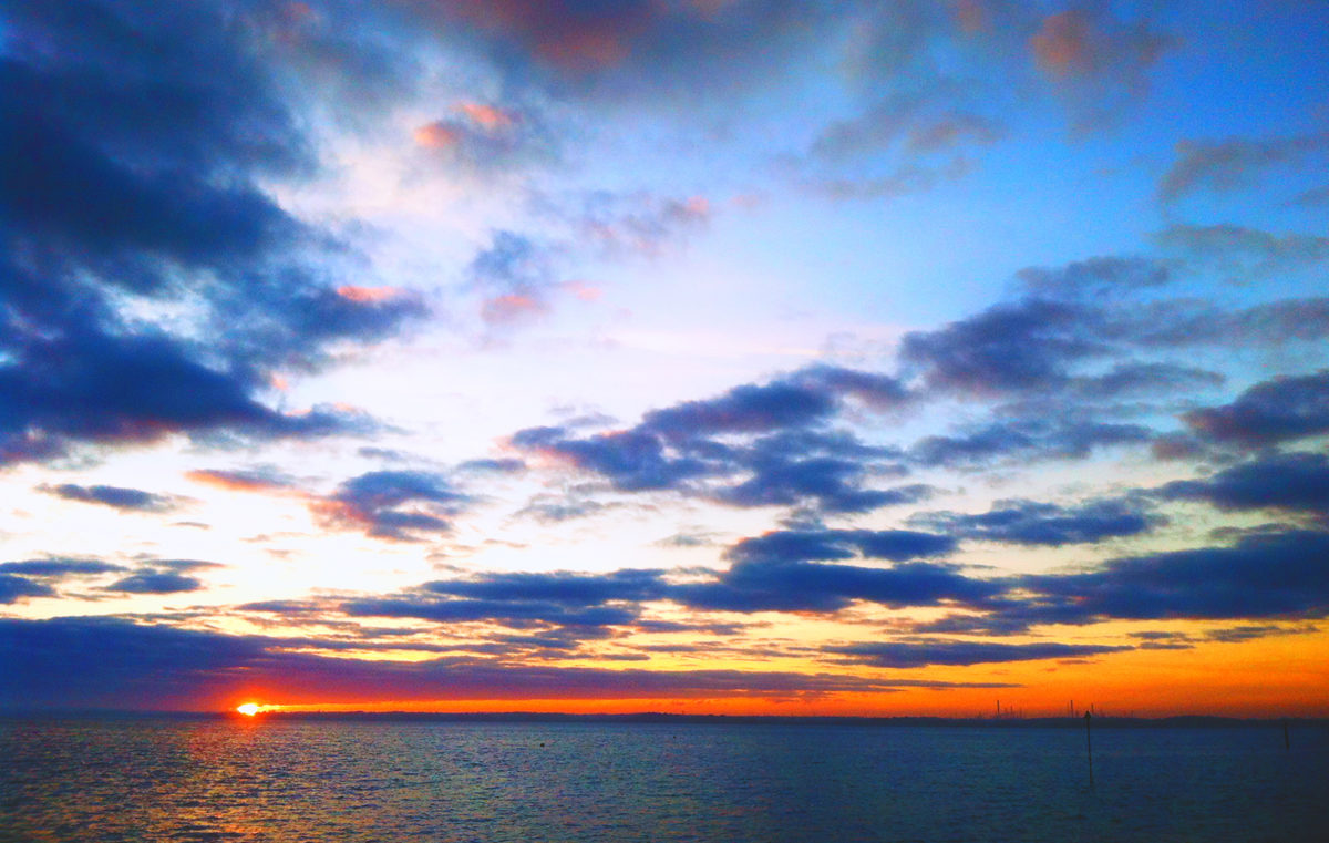 Sky Sunset Sea - Gurnard 23May2017
