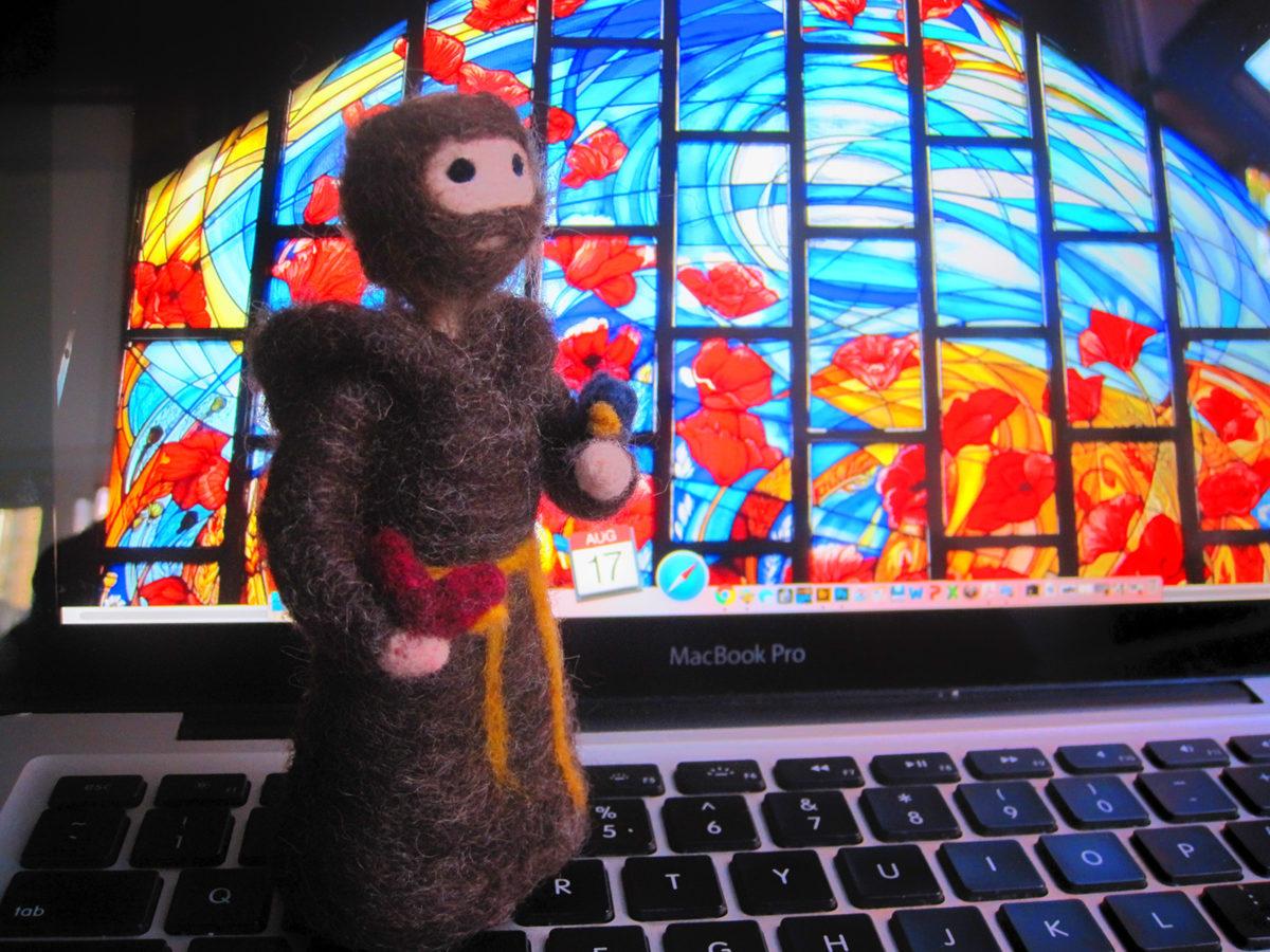 Handmade felt toy Francis