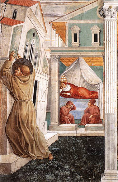Benozzo Gozzoli Saint Francis Holding Up the Church Pope's Dream