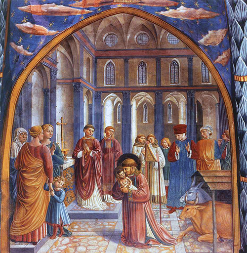 Benozzo Gozzoli Montefalco St Franics Nativity Scene